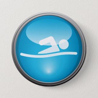 Triathlon SWIM Race Day Button