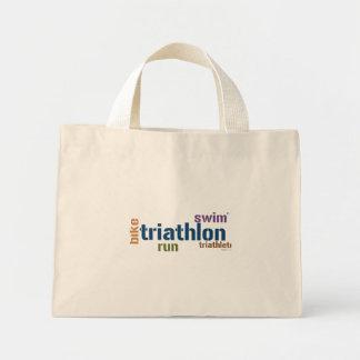 Triathlon Text Canvas Bags