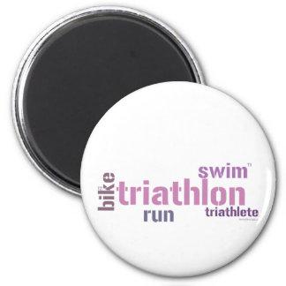 Triathlon Text Magnets