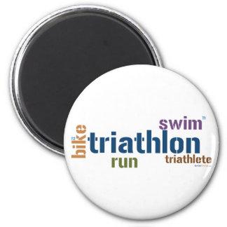 Triathlon Text Refrigerator Magnets