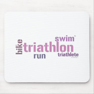 Triathlon Text Mouse Mats
