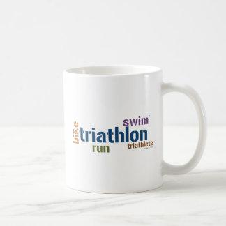 Triathlon Text Mugs
