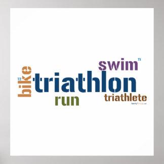 Triathlon Text Posters