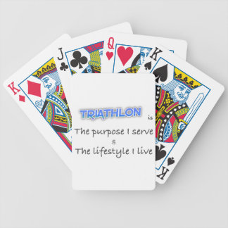 TRIATHLON - The purpose I serve Bicycle Playing Cards