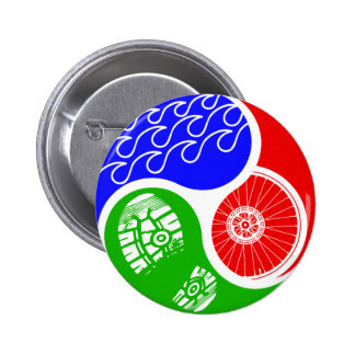 Triathlon TRI Yin Yang 6 Cm Round Badge