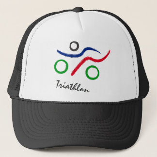 Triathlon unique logo best seller! trucker hat