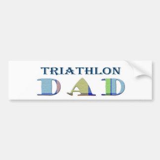 TriathlonDad Bumper Sticker