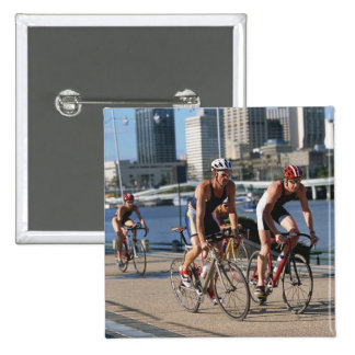 Triathloners Cycling 15 Cm Square Badge