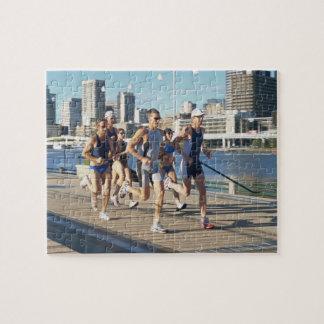 Triathloners Running 3 Jigsaw Puzzle