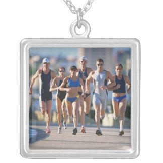 Triathloners Running 5 Custom Jewelry