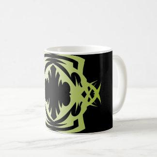 Tribal 16 green to over black coffee mug