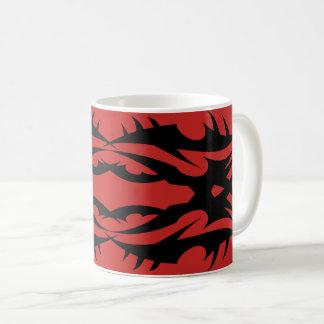Tribal 17 black to over network coffee mug