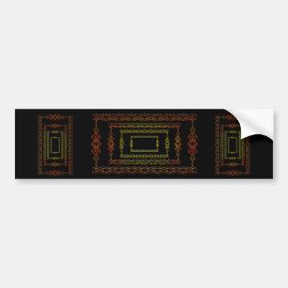 Tribal abstract. bumper sticker