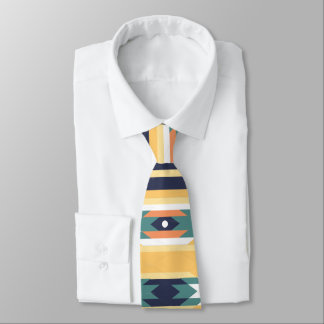 Tribal abstract pattern tie