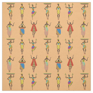 Tribal African ladies colouful ethnic fashion Fabric