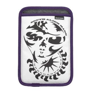 Tribal Alien with sun and crop circle iPad Mini Sleeve