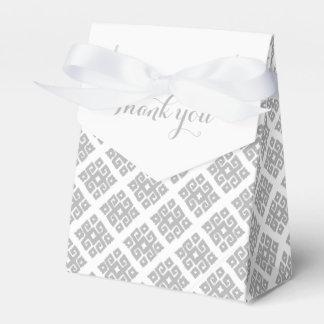 Tribal angular grey white thank you gift box