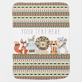 Tribal Animal Baby Pram blankets
