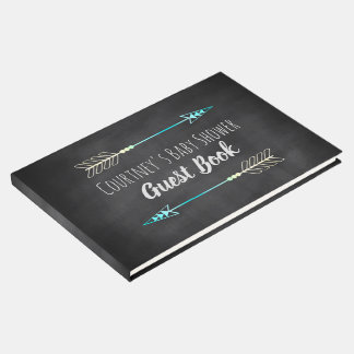Tribal Arrow Baby Boy Chalkboard Baby Shower Guest Book