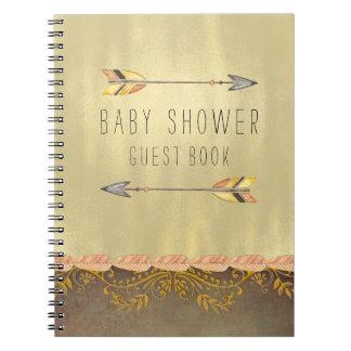 Tribal Arrow Baby Shower Guest Notebooks