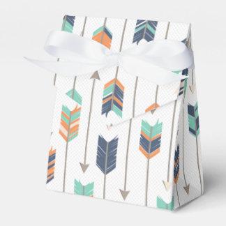 Tribal Arrow Blue Orange Green Favor Box