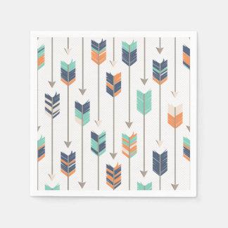 Tribal Arrow Blue Orange Green Paper Napkins Disposable Serviette