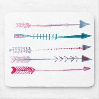 Tribal Arrows in Pen and Ink Mouse Pad