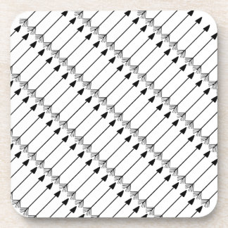 Tribal Arrows Pattern Art, Black and White Drink Coasters