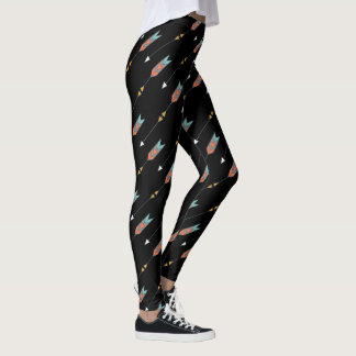 Tribal Arrows Pattern | Bold Boho Bohemian Leggings