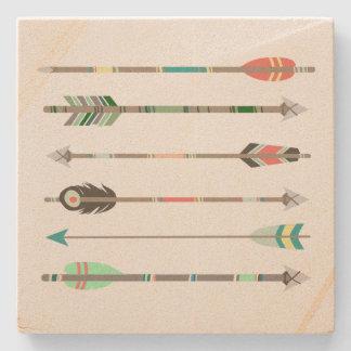 Tribal Arrows Stone Coaster