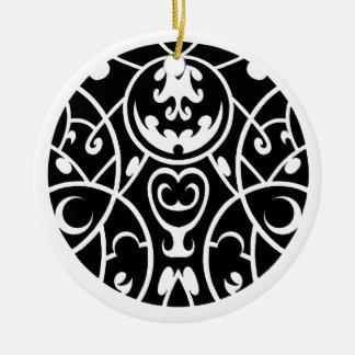 tribal art Ceramic Ornament