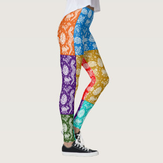 Tribal Art Pop Fashion Leggings