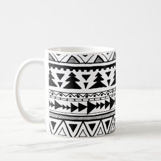 Tribal aztec boho style organic doodle pattern mug