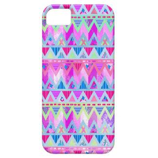 Tribal Aztec Chevron Bright Pink Blue Cotton Candy iPhone 5 Case