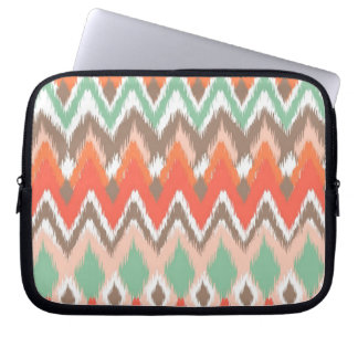 Tribal aztec chevron zig zag ikat chic pattern laptop sleeve