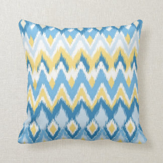 Tribal aztec chevron zig zag stripes ikat pattern cushion