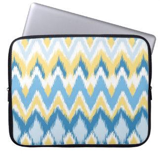 Tribal aztec chevron zig zag stripes ikat pattern laptop sleeve