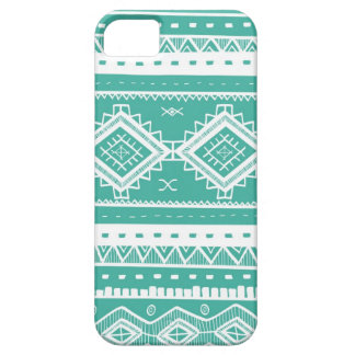 Tribal Aztec Lace Pattern (aquamarine) iPhone 5 Case
