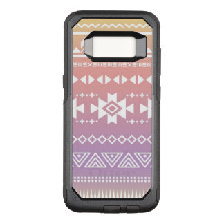 Tribal aztec ombre pattern OtterBox commuter samsung galaxy s8 case