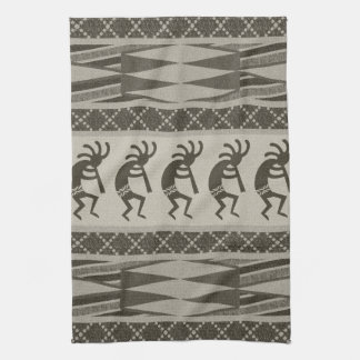 Tribal Aztec Pattern Kokopelli Southwest Tea Towel