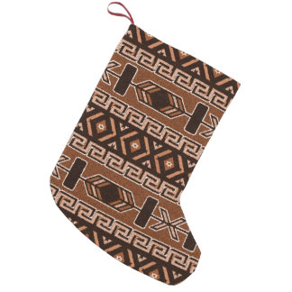 Tribal Aztec Pattern Southwest Christmas Brown