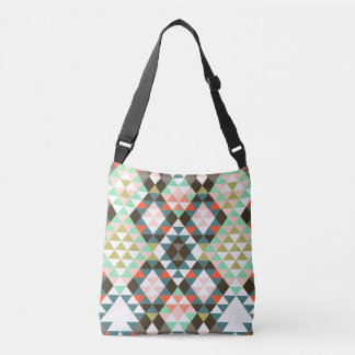 Tribal Aztec Southwest Geometric Boho Chic Crossbody Bag