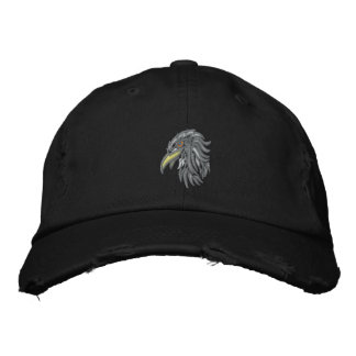 tribal bald eagle embroidered hat
