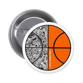 Tribal Basketball 6 Cm Round Badge