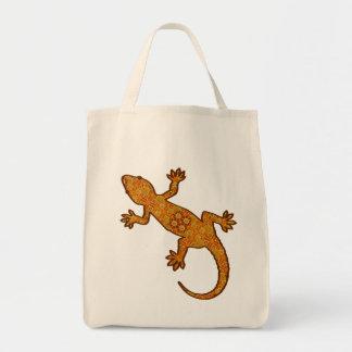Tribal Batik Gecko - Rust, Amber and Tan Tote Bag