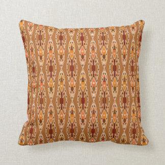 Tribal Batik - Rust, Terracotta and Beige Cushion