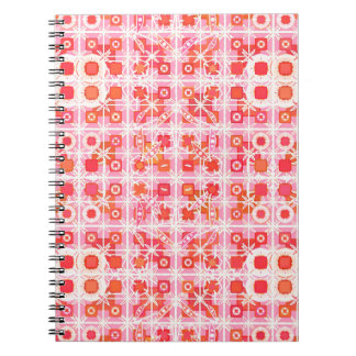 Tribal Batik - strawberry pink and red Note Books