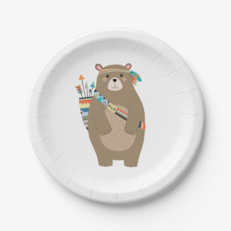 Tribal Bear Paper Plates