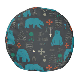 tribal bear pouf