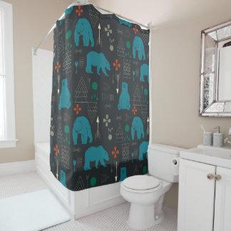 tribal bear shower curtain